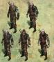 Geralt in verschiedenen Rüstungen